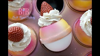 Let's Make Strawberry Dessert Bath Bombs | Using The Bath Bomb Press
