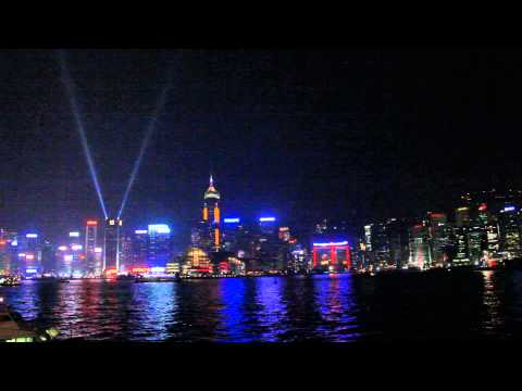 A Symphony of Lights at Victoria harbour
