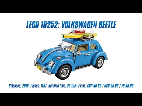 'LEGO Creator 10252: Volkswagen Beetle' Unboxing, Parts List, Speed Build & Review