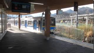 富士急行6000系「河口湖行き」が大月駅を発車