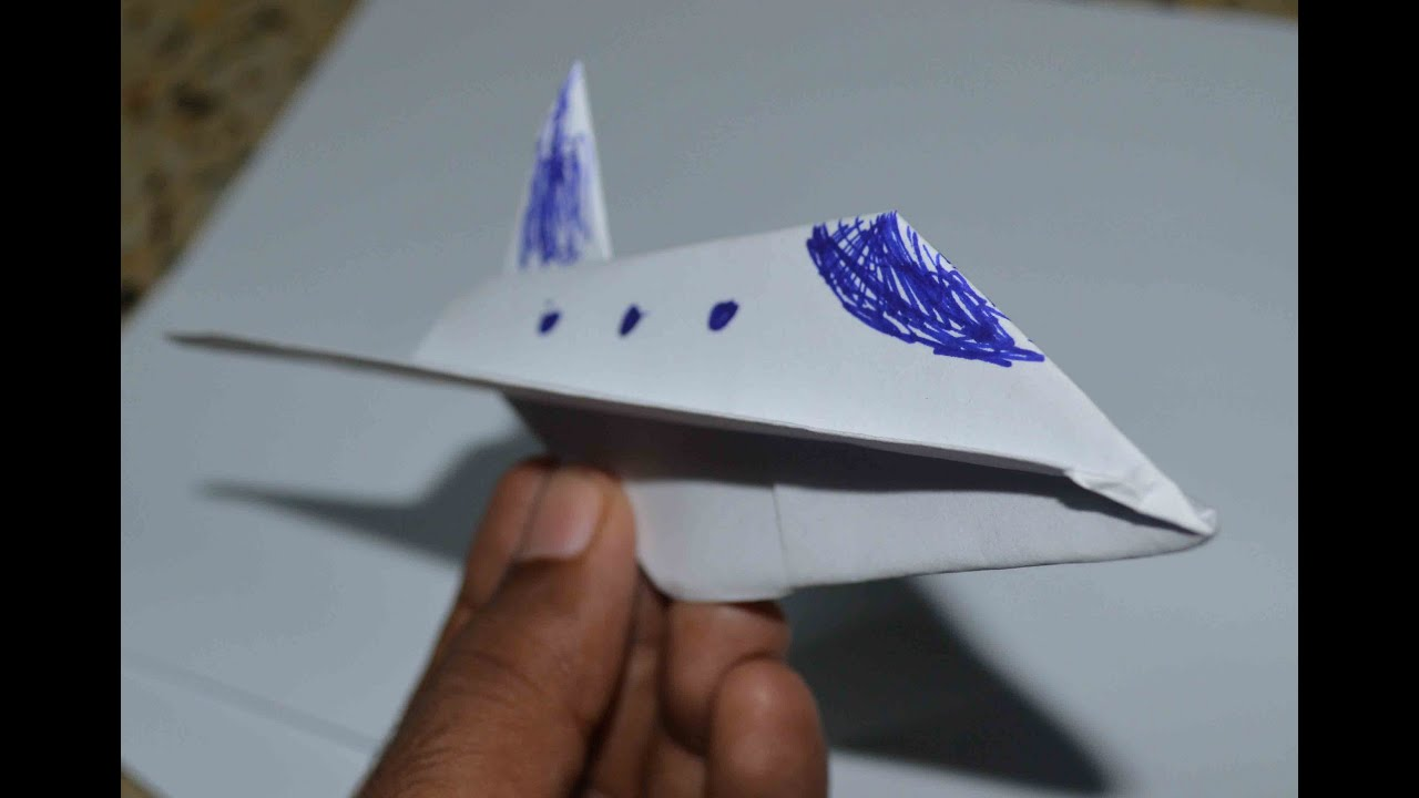 Papercraft Origami : Simple paper model of space shuttle