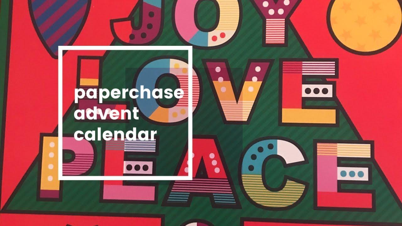 Paperchase advent calendar 2019