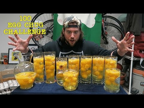 The 100 Raw Egg Chug Challenge | L.A. BEAST