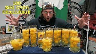 The 100 Raw Egg Chug Challenge | L.A. BEAST