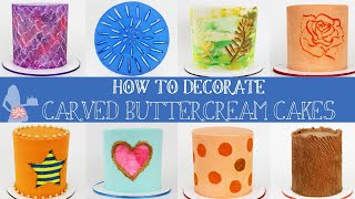 How To Decorate Carved Buttercream Cakes