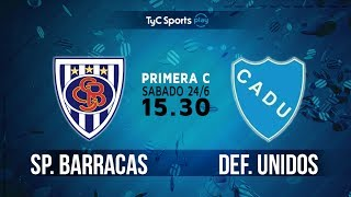 Sportivo Barracas vs CA Defensores Unidos full match