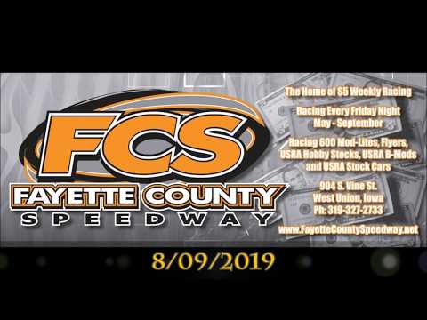 Xcel 600 Modified Fayette County Speedway 8/9/19 *Feature*
