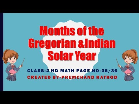 Class -2 nd Math -MonthS Of the Gregorian & Indian Solar Year - page 35,36