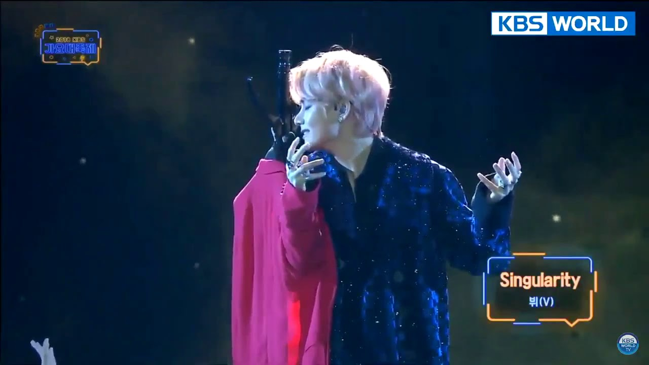 BTS V (Taehyung) - SINGULARITY live at KBS Song Festival I KBS 2018