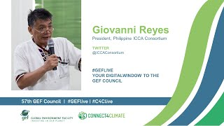 Giovanni Reyes at GEF Live - Your digital window to the 57th Council