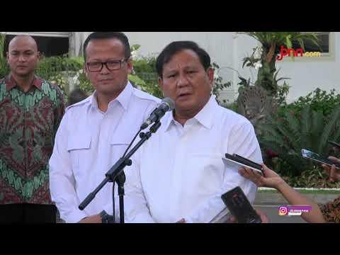 Prabowo Subianto: Saya Diminta Beliau di Bidang Pertahanan