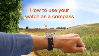 How to use your 24 hour one-hand wristwatch as a compass | BOTTA