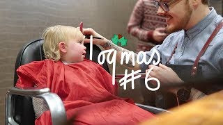 FIRST HAIRCUT (SHE ALMOST FELL ASLEEP..) | VLOGMAS