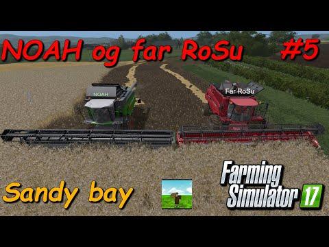NOAH og far RoSu #5 Farming Simulator 2017 Sandy bay thumbnail