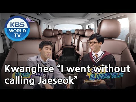 """Kwanghee """"I went without  calling Jaeseok""""[Happy Together/2019.02.28]"""
