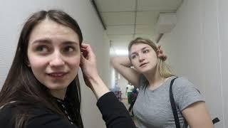 VLOG Настя и Катя на съемках с DSIDE BAND