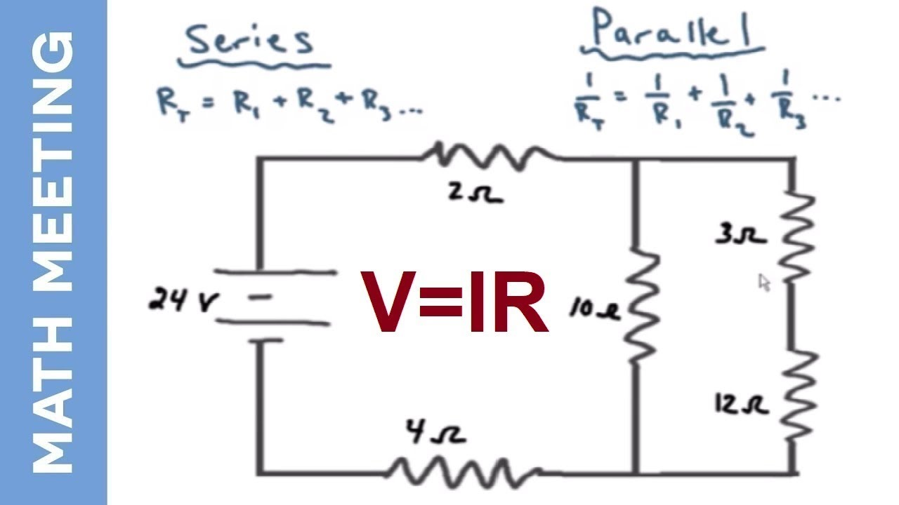 hight resolution of circuit analysis solving current and voltage for every resistor