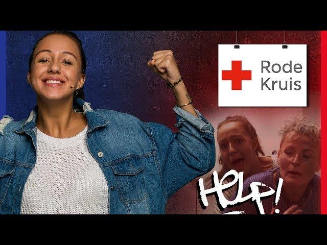 SOPHIE HELPT STIKKENDE VROUW?! | Het Rode Kruis | Goede Doelen #3