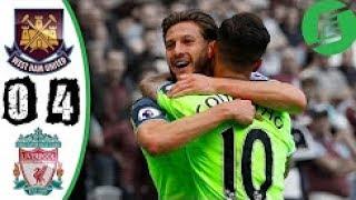 West Ham vs Liverpool 0-4 - Highlights & Goals - 14/05/2017 HD