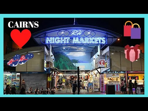 CAIRNS, a typical AUSTRALIAN NIGHT MARKET, QUEENSLAND