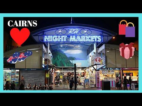 CAIRNS, a typical AUSTRALIAN NIGHT MARKET, QUEENSLAND