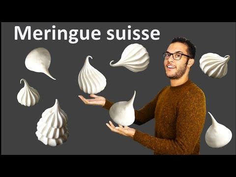 recette LA MERINGUE SUISSE / Swiss meringue (English subs)