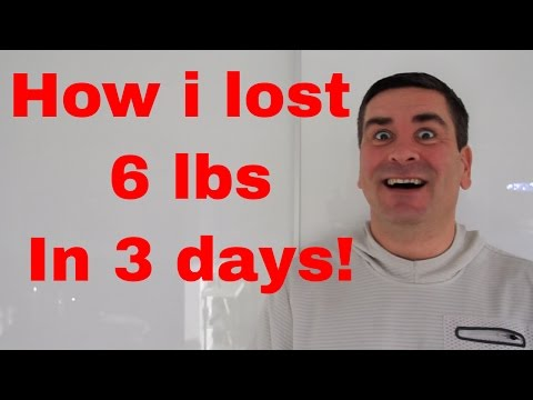 How to lose weight fast. I lost 6 pounds in 3 days on a juice detox