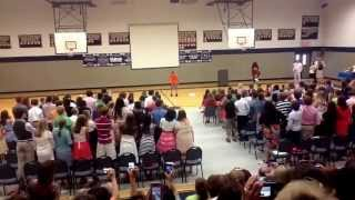 Jonathan Mayfield at North Davie Middle School 8th grade graduation 2013
