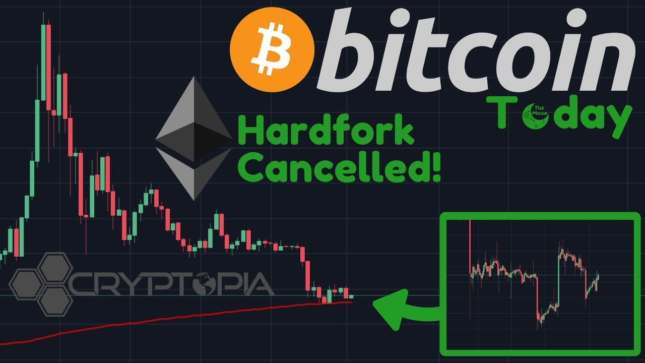 Bitcoin Bottomed Out? | Ethereum Hard Fork HALTED! | Cryptopia HACKED!!!