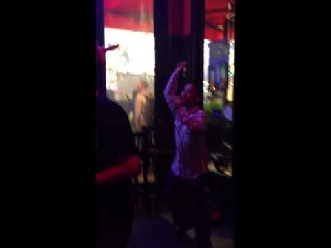 Karaoke in Times Square