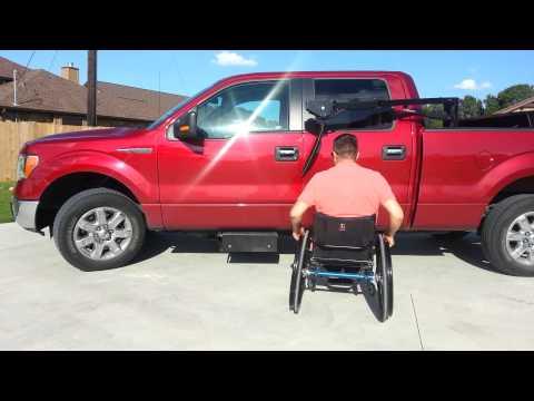 Easy Hiding.   Wheelchair Lift for pickup truck