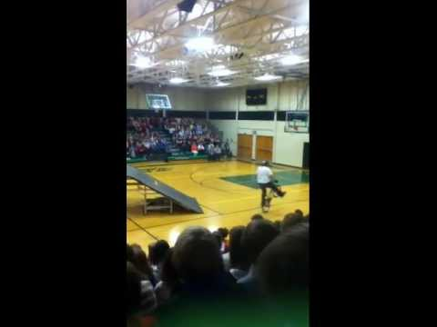 Professional bmx riders at sauk rapids rice middle school