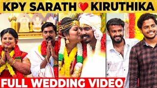 🔴 Fun Video: Vijay TV's KPY Sarath Wedding Video | Kiruthika