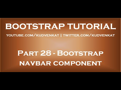 Bootstrap navbar component