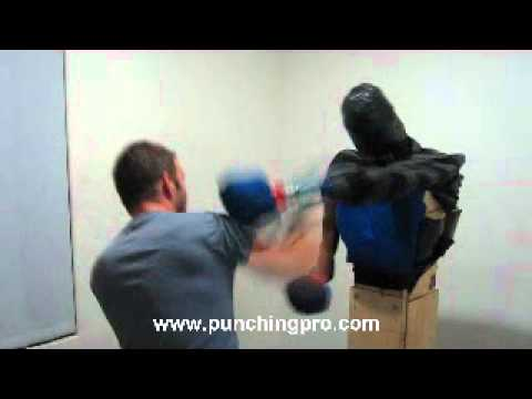 Punching Pro - a sparring apparatus that fights back
