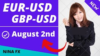 EURUSD and GBPUSD Intraday Analysis for August 2, 2021 by Nina Fx