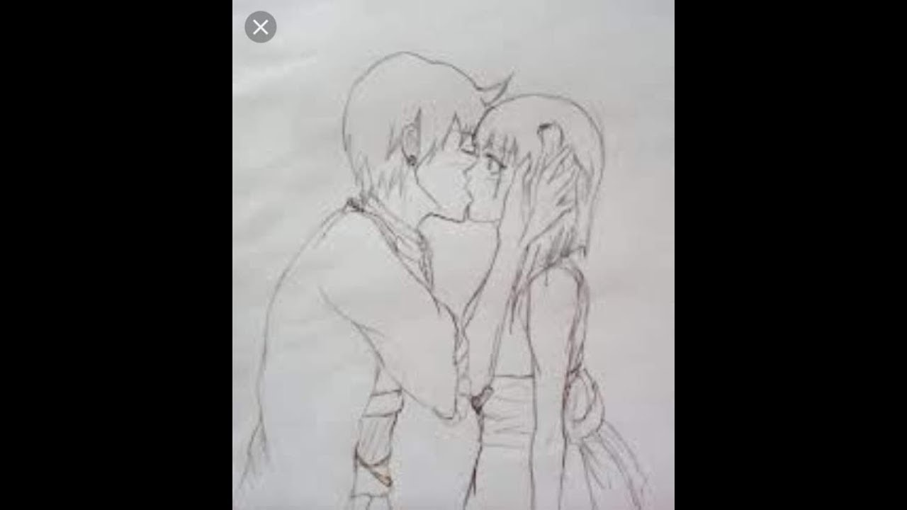 Romantic love couple kissing pencil sketch drawing learn how to draw