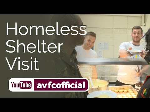 Andreas Weimann & Jed Steer visit homeless shelter