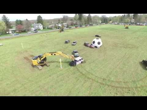 Amazing Car Soccer Game | Soccer with Excavators ~ [MUST WATCH]
