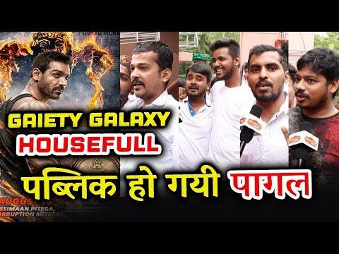 Satyameva Jayate Public Review   Gaiety Galaxy Housefull   John Abraham का तूफ़ान