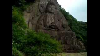 Dai-Butsu (Huge Buddha statue) at Nihon-ji in Mt.Nokogiri in Japan