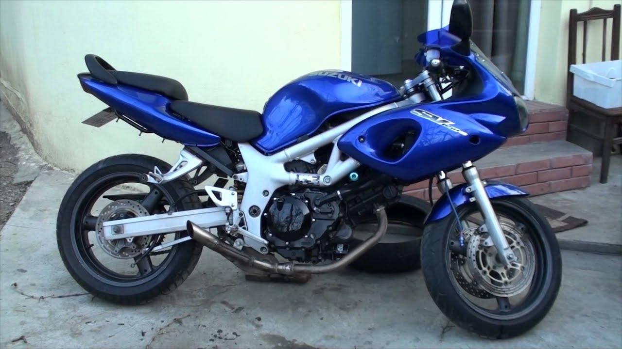 suzuki sv650 split exhaust no exhaust youtube
