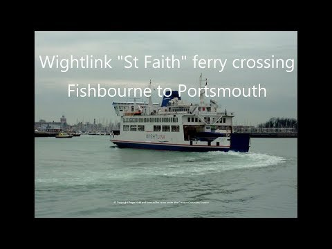 Wightlink St Faith Isle Of Wight Ferry Crossing, Fishbourne To Portsmouth