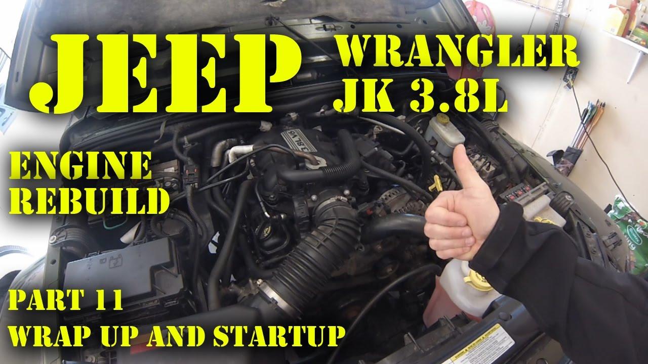 Jeep Wrangler JK 3.8L Engine Rebuild Part 11 - Wrap Up and Startup