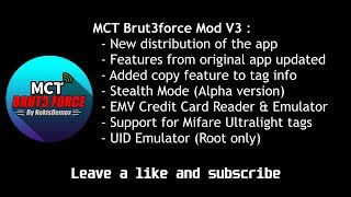 mifare Classic Tool Bruteforce Mod V3.0 Android
