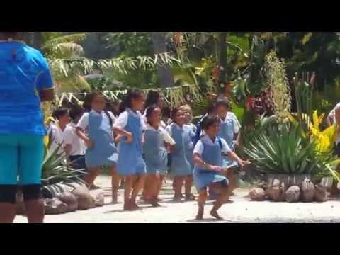 School-kids Dancing in the Cook Islands