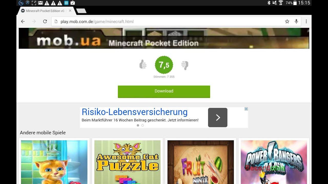 Minecraft PE Gratis Bei PLAY MOB DOWNLOADEN YouTube - Minecraft pe spielen gratis