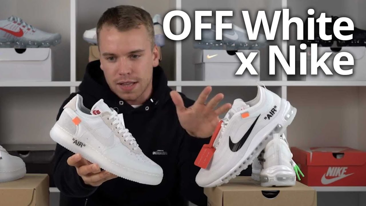 49c902cd33 OFF White x Nike Air Force 1 & Air Max 97 EXCLUSIVE Review 'The Ten'  Unboxing