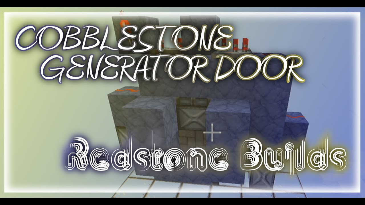 how to build an epic cobblestone generator