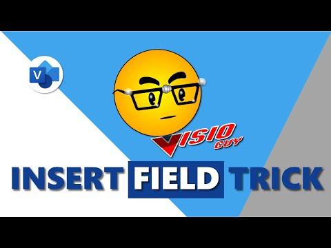 Insert Field Visio Trick